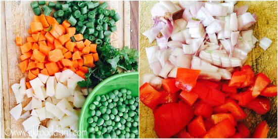 Mixed Vegetables Kurma Recipe for Toddlers and Kids - step 1