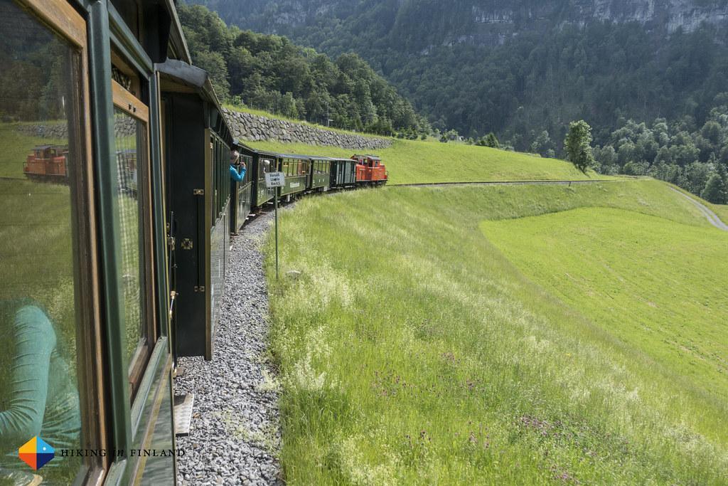 On the narrow gauge train Wälderbähnle
