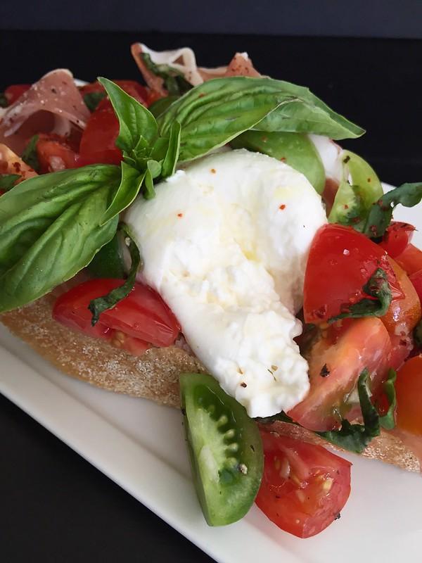 Burrata Caprese Crostini