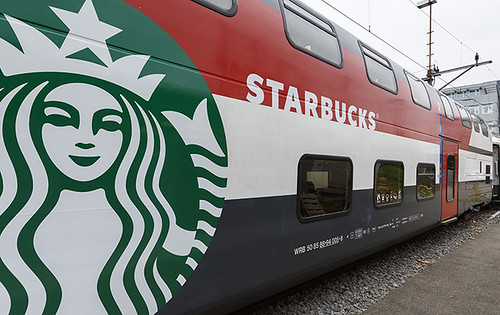 Starbucks train en suisse