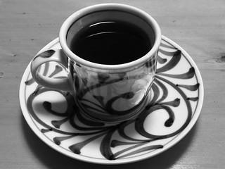 素材写真 コーヒーカップ白黒 2013/11/3
