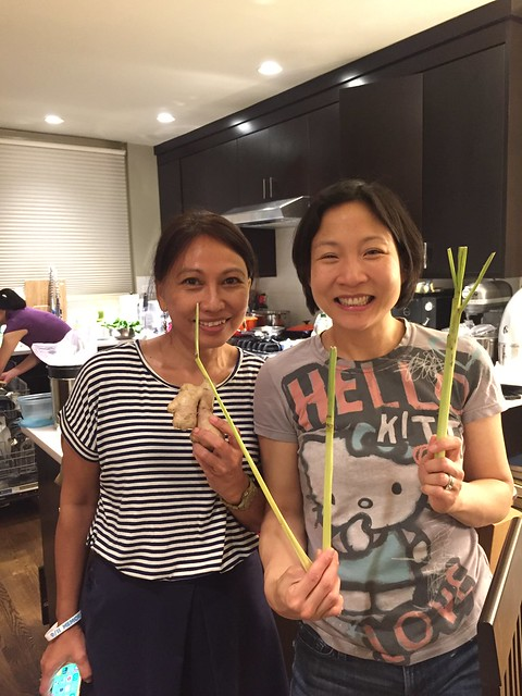 Jen and Ana from LaZat Cooking School in Kuala Lumpur