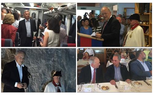 Viaje del cuerpo diplomático con el presidente de Suiza