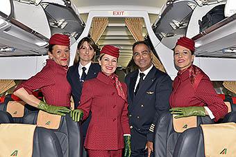 Alitalia TCP nuevos uniformes (Alitalia)