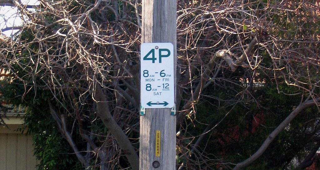 Illogical parking sign, Elsternwick, June 2006
