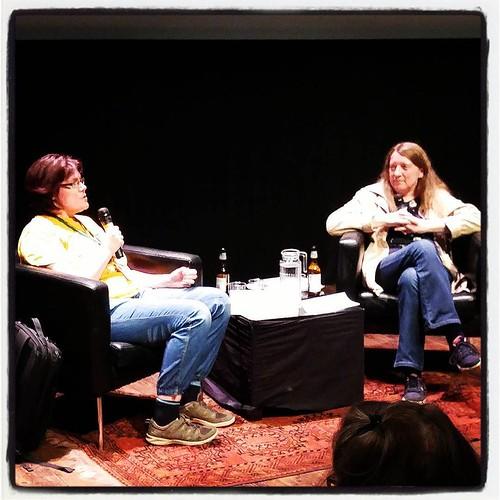 A conversation about books, Linnéa Anglemark och Caroline Mullan. #swecon