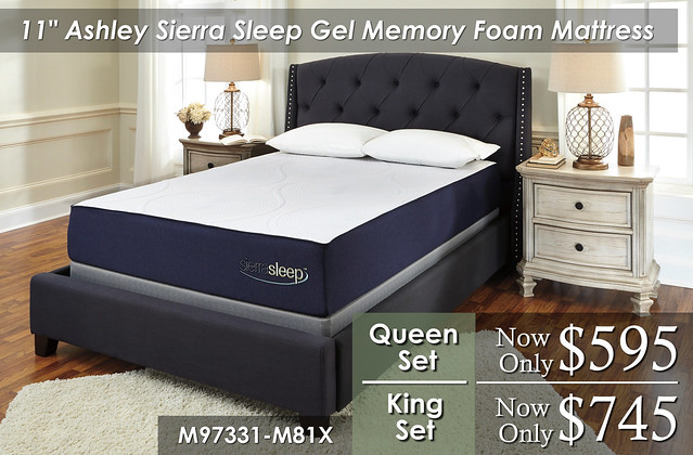 11in Ashley Sierra Sleep Gel Memory Foam SKU