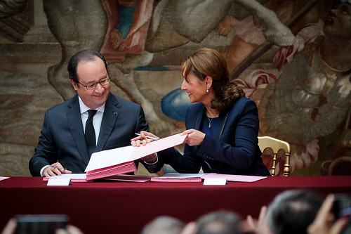 160615 - Cérémonie de signature de ratification de l'accord de Paris à l'Elysée