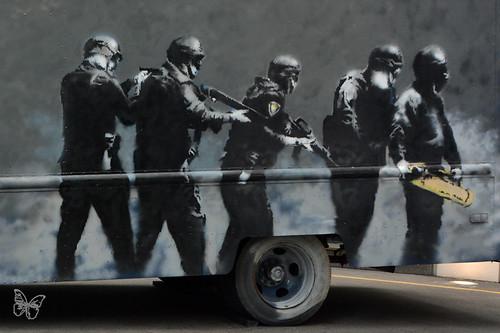 Banksy SWAT Van