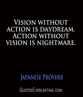 Vision without action is a daydream essay writer