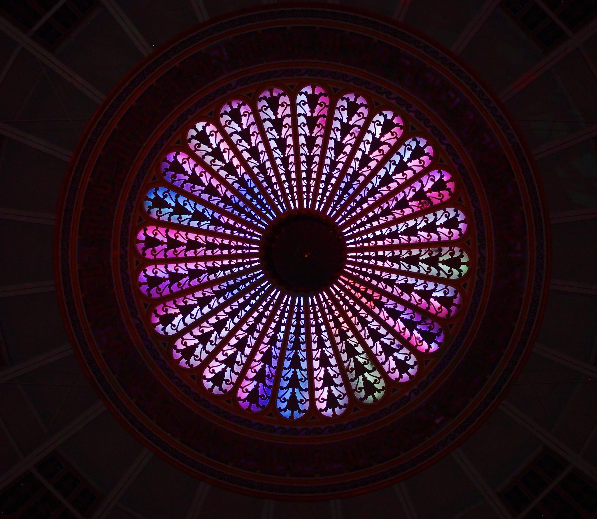 West Baden dome at night