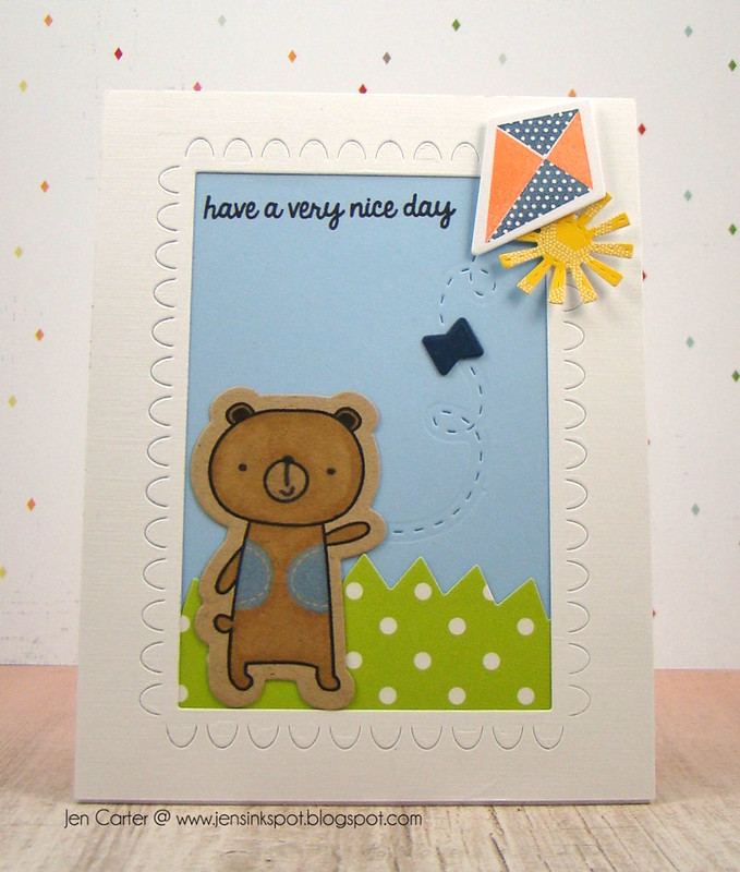 Jen Carter Flying Kite Bear Front