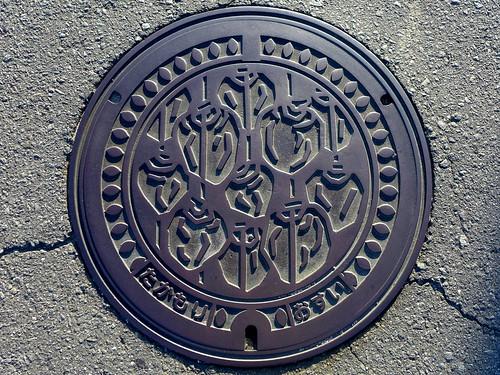Takamori Nagano, manhole cover (長野県高森町のマンホール)