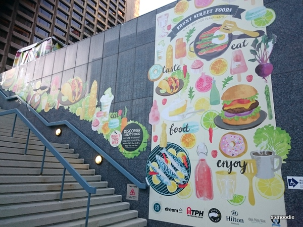Front Street Foods at Adelaide Place mural