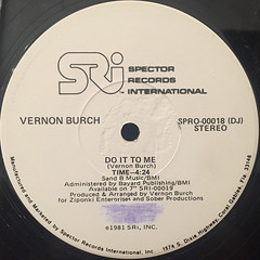 VERNON BURCH:DO IT T ME(LABEL SIDE-B)
