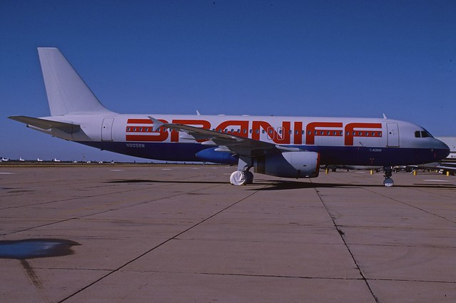 Braniff Airways Airbus A320-231; N905BN, January 1990/CPG
