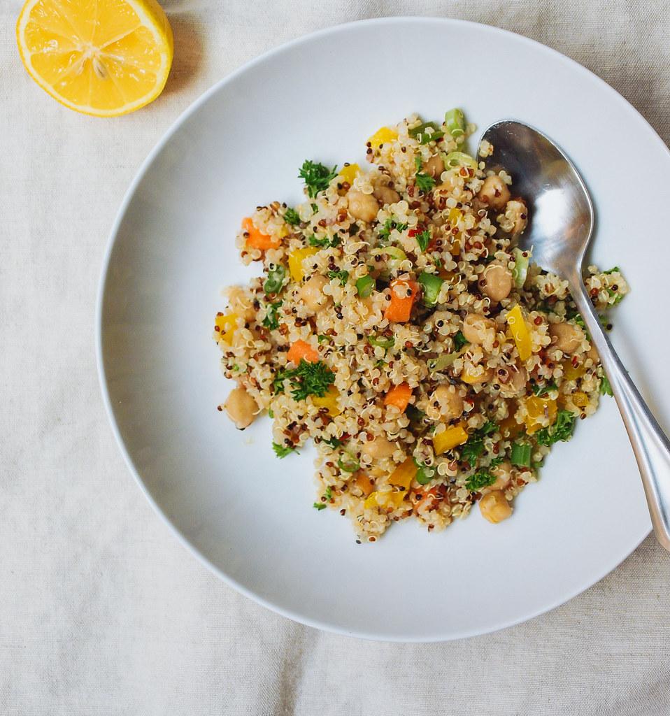 Quinoa + Chickpea Salad