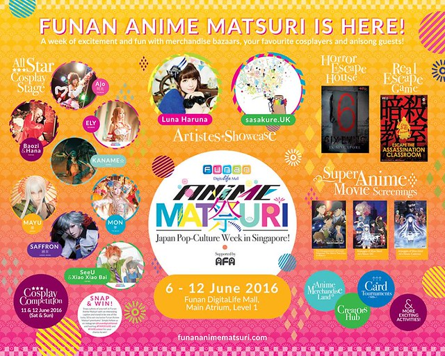 Funan Anime Matsuri 2016 Guest Line-up Released!