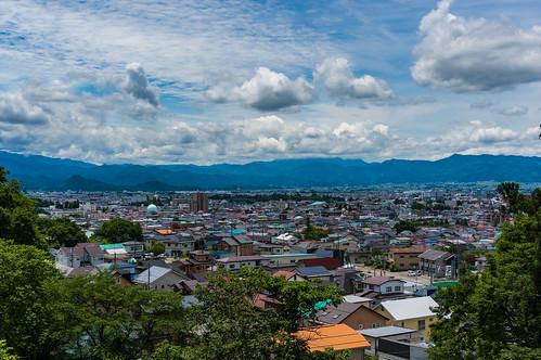Landscape from land Byakkotai suicide