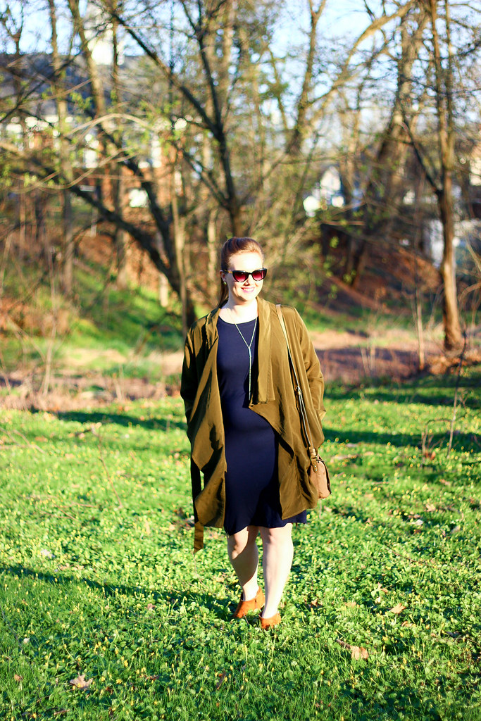 Just Fab Dress and Silk Trench-7