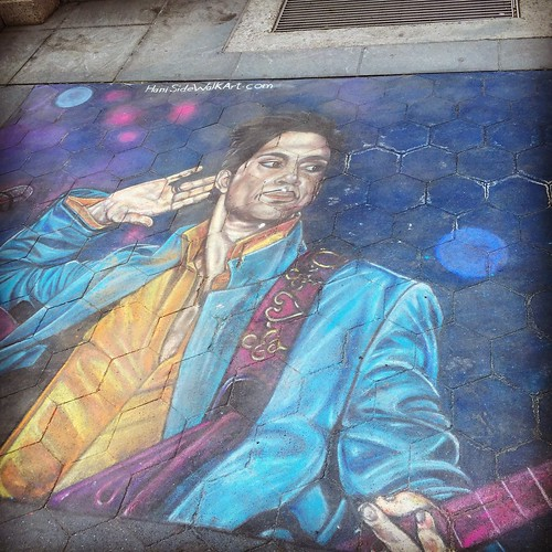 Sidewalk Art in Washington Square Park #prince