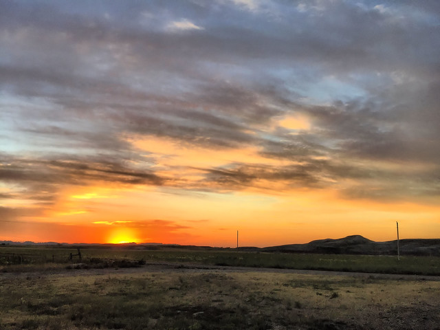 Sunrise Badlands SD HDR 20160617