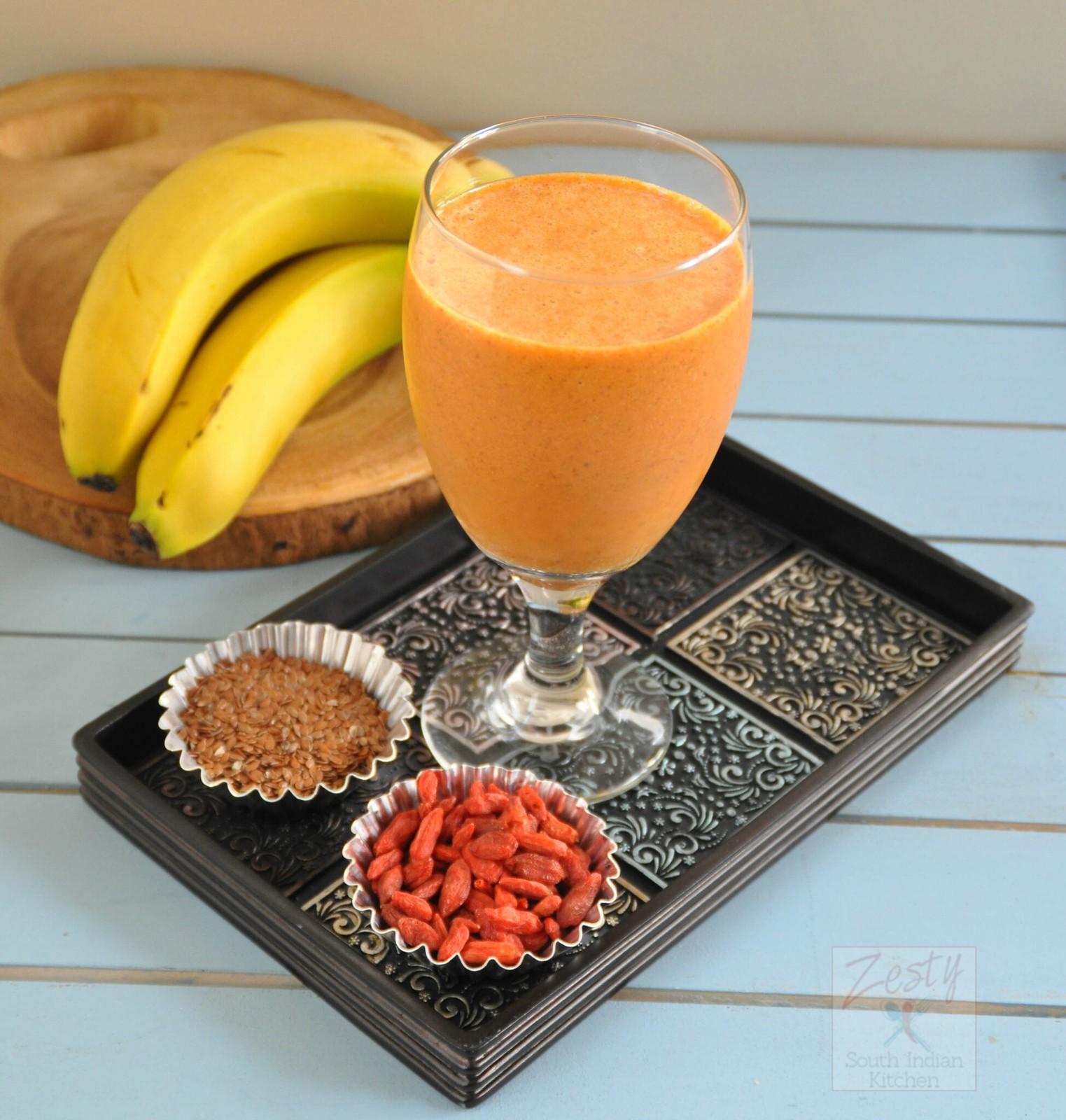 Antioxidant Rich Goji Berry Banana Smoothie Zesty South Indian