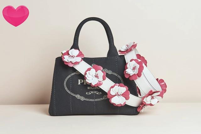 Prada Giardiniera+Calf Flower strap MCW