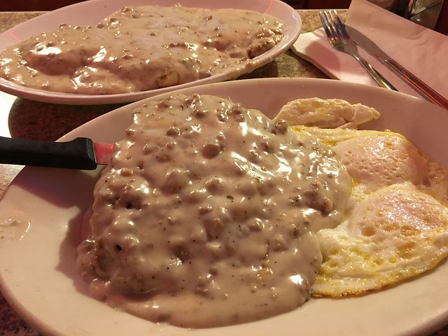 Chicken fried steak and eggs - Orphan Andy's