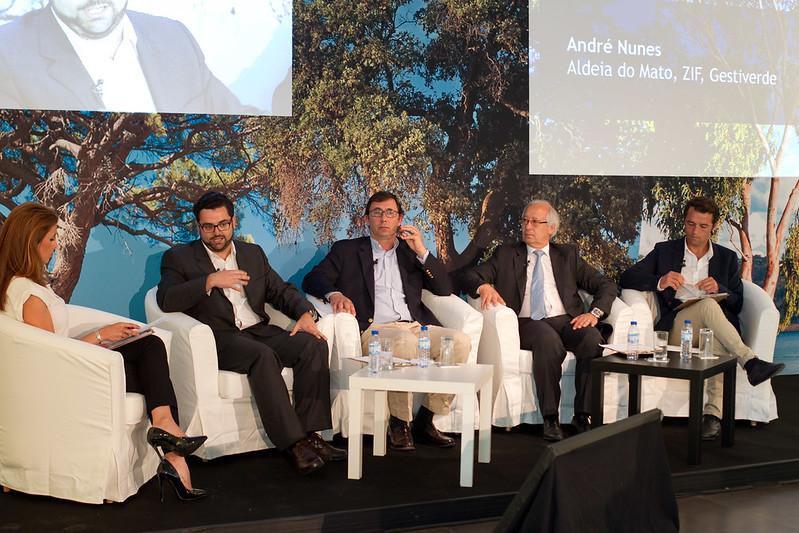 André Nunes (gestiverde), Francisco Gomes da Silva ( instituto superior de agronomia), José julio Norte( camara de Mortágua), Luís Sarabando( associação baixo vouga)