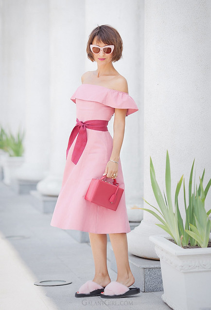 pink-flare-dress-for-summer