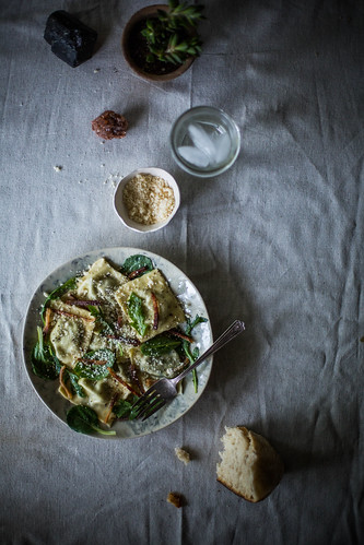 stinging nettle & homemade ricotta ravioli | by Beth Kirby | {local milk}