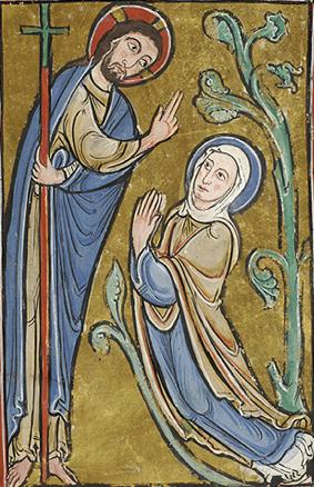 Jesús Resucitado y María Magdalena