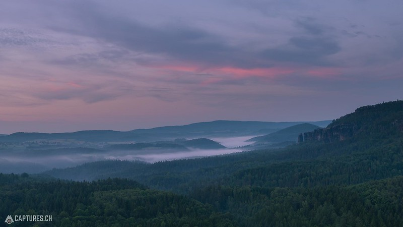 Dusk - Saxon Switzerland