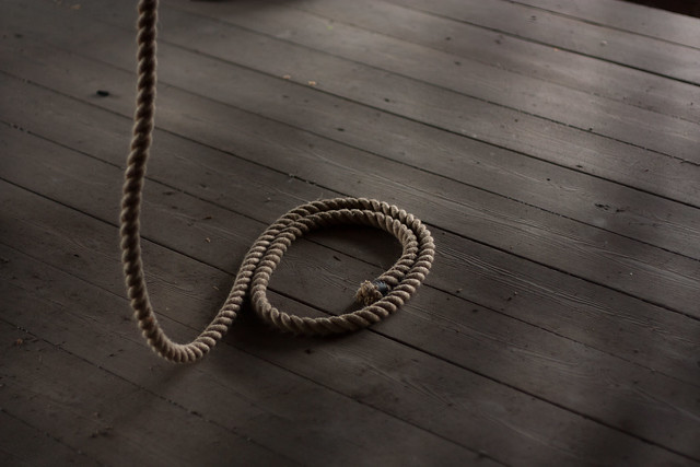 Lonely Rope Swaying in the Clocktower
