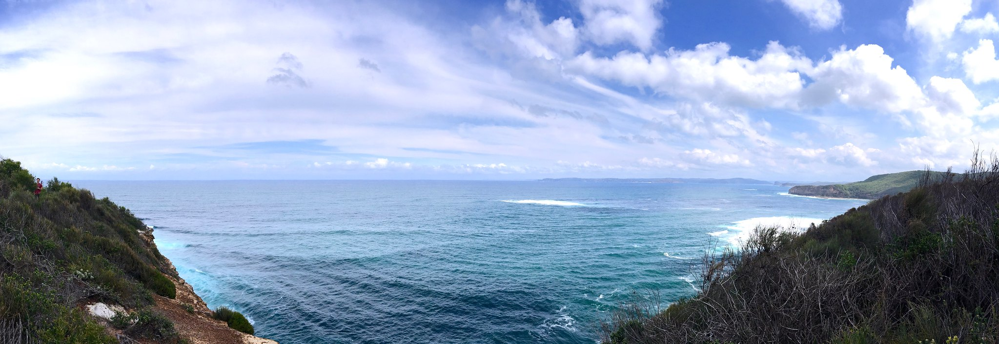 Panoramic view of Pacific Ocean from Bouddi National Park
