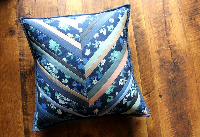 Denim Herringbone Pillow