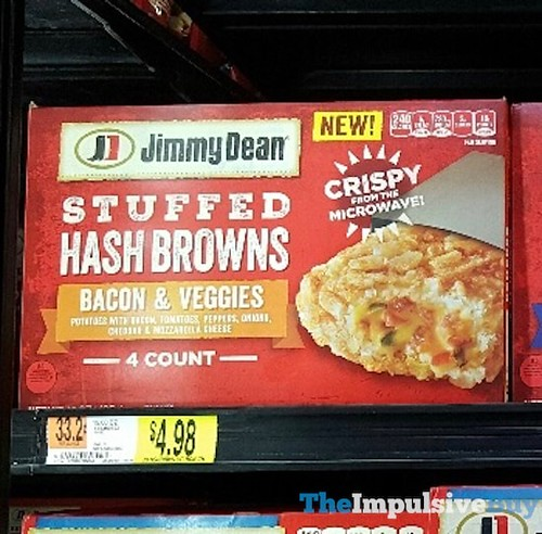 Jimmy Dean Bacon & Veggies Stuffed Hash Browns ...