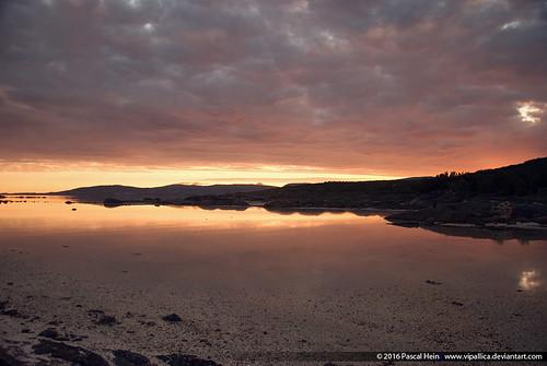 Sunset near Saultstromen, Norway