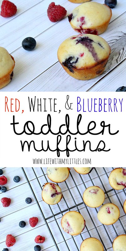 These patriotic red, white, and blueberry toddler muffins are the perfect 4th of July snacks for kids! Packed full of nutrients, you'll feel great about serving them to your toddlers!
