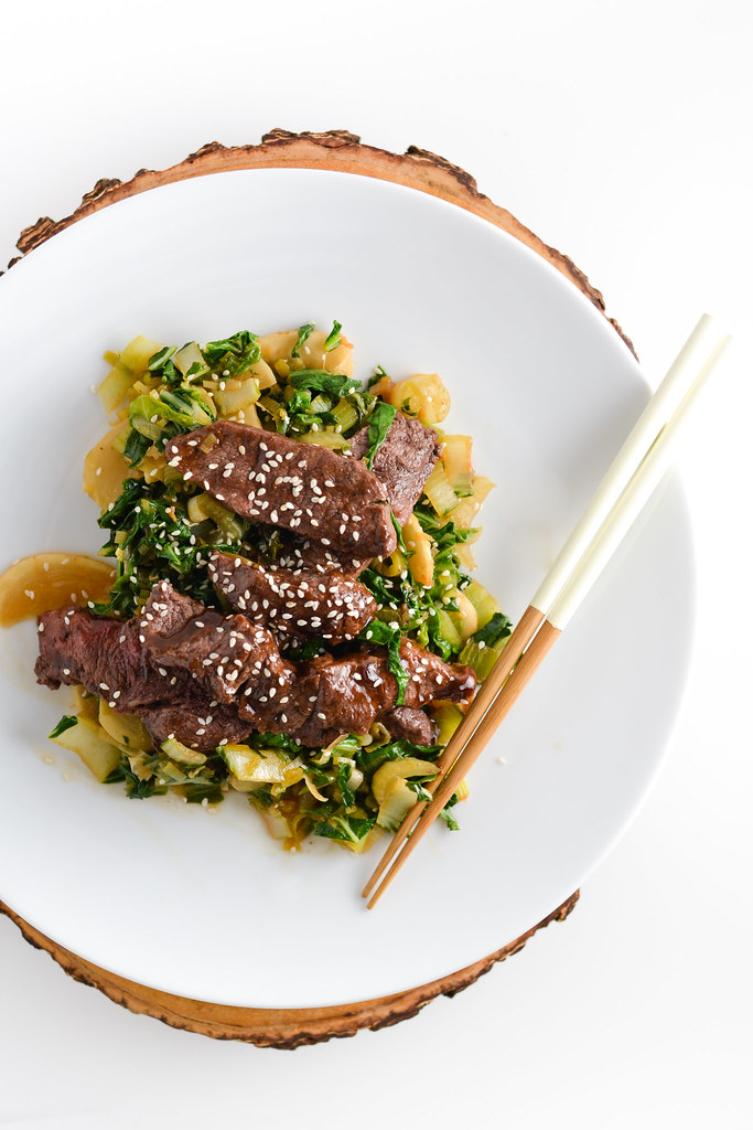Stir Fried Beef with Bok Choy and Turnips | Things I Made Today