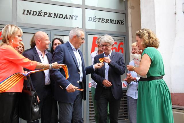 Jean-Claude MAILLY en visite dans les Pyrénées-Orientales le 1er juillet 2016