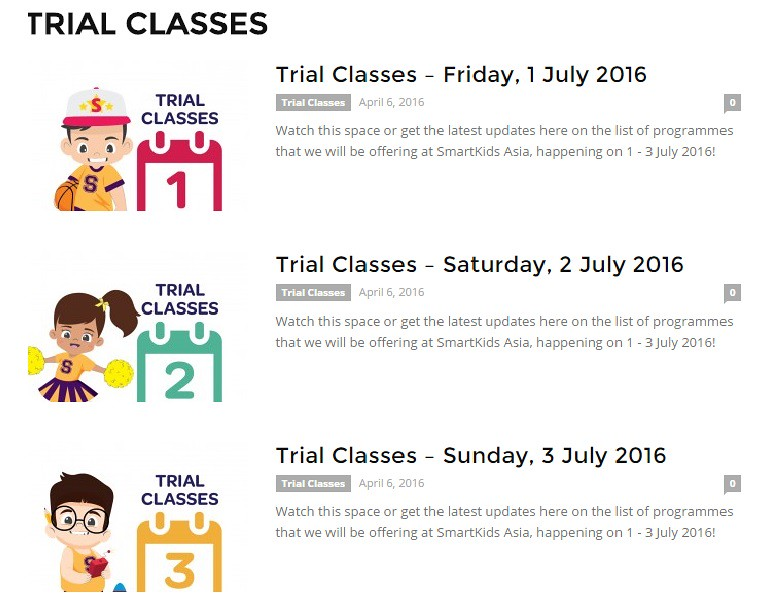 SKA Trial Classes