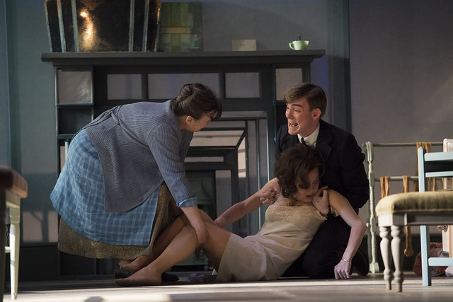 Marion Bailey, Helen McCrory and Philip Welch in The Deep Blue Sea. Image by Richard Hubert Smi