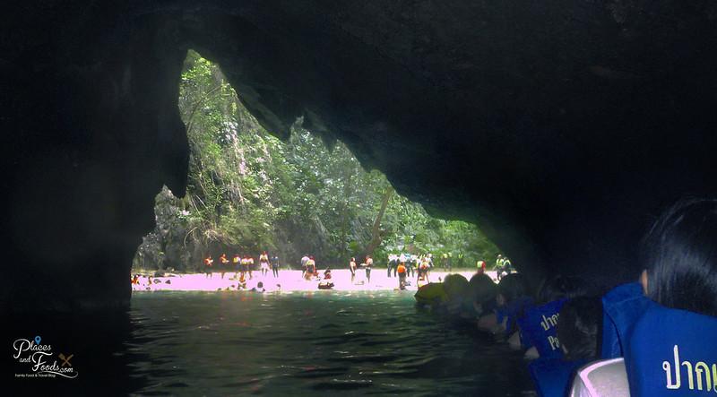 emerald cave trang entrance 2