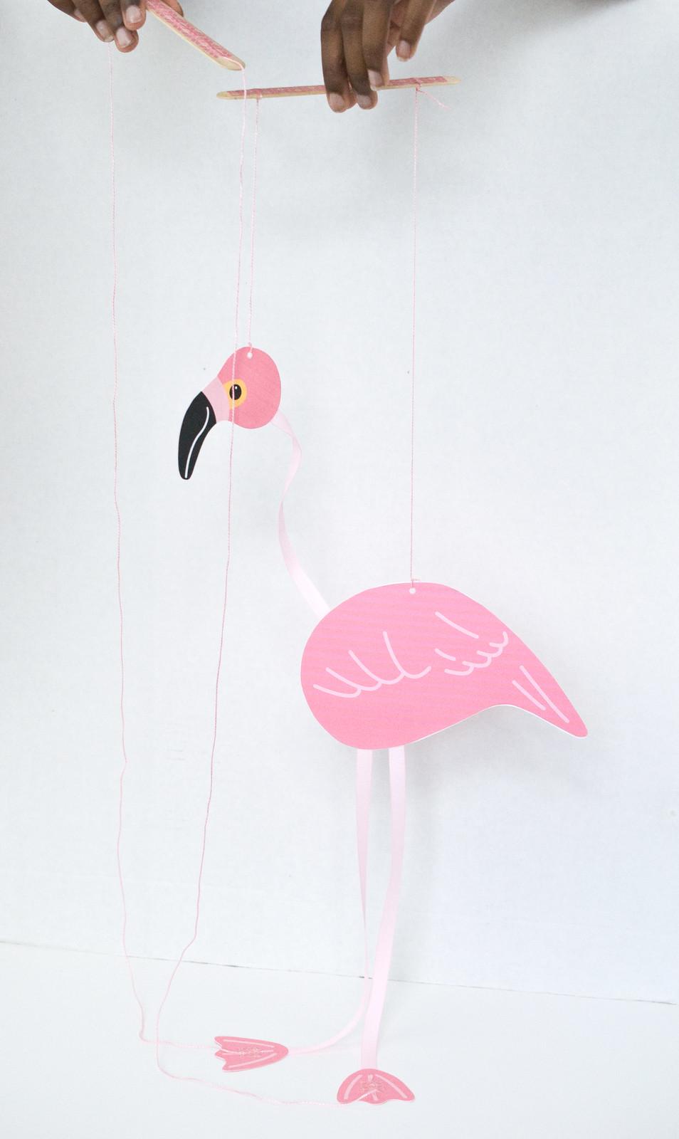 Funny Flamingo Marionette