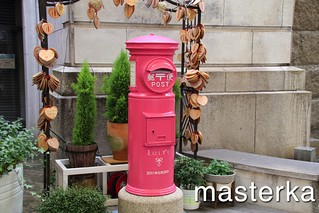 ピンクの郵便ポスト