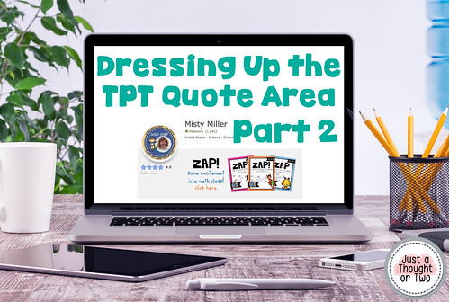 Dressing Up the TPT Quote Area Part 2 Rotating Banner, Quote Area