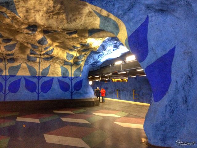 Станция Стокгольмского метро. Subway. Stockholm. Sweden
