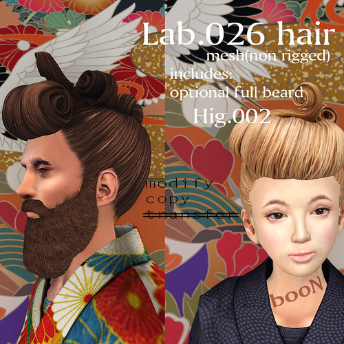 booN Lab.026 hair